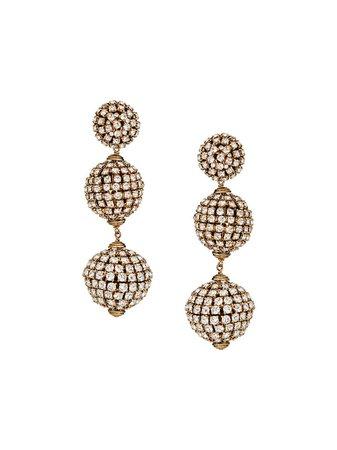 Saint Laurent gold-tone crystal-embellished Drop Earrings - Farfetch