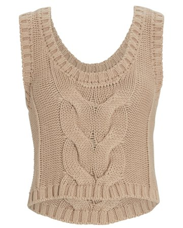 STAUD Kind Cable Knit Sleeveless Sweater | INTERMIX®