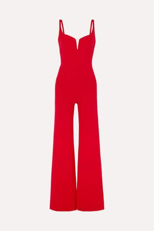 Signature Crepe Jumpsuit - Red