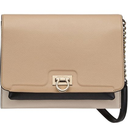 Salvatore Ferragamo Colorblock Leather Crossbody Bag | Nordstrom