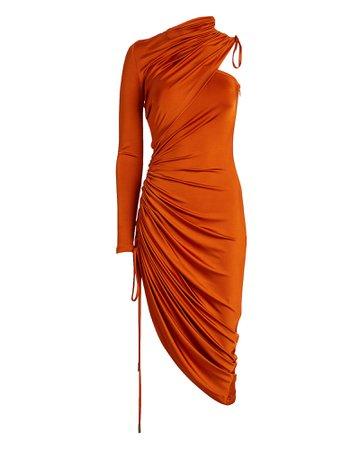 Monse | Draped One-Shoulder Satin Dress | INTERMIX®