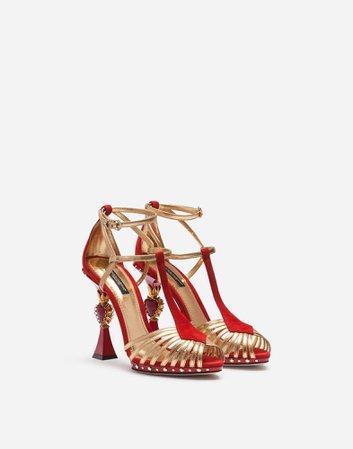 Sandals with Sculptural Heel - Women's Shoes | Dolce&Gabbana
