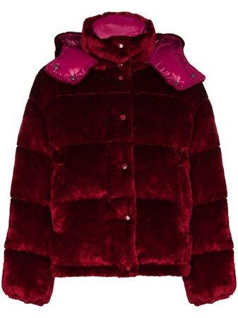 Moncler Daos velvet-effect Puffer Jacket - Farfetch