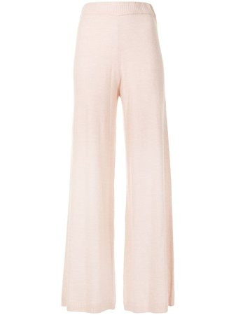 The Upside Igor flared knitted trousers pink USW420112 - Farfetch