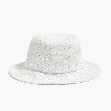 Eyelet bucket hat
