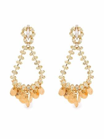 Gas Bijoux Riviera crystal-embellished earrings - FARFETCH