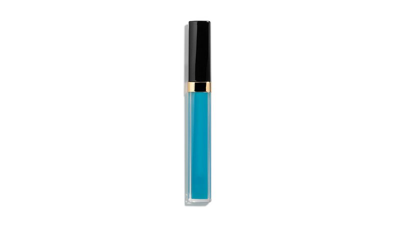 blue lipgloss