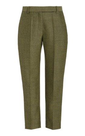 Classic Straight-Leg Wool Cropped Pants By Brandon Maxwell | Moda Operandi