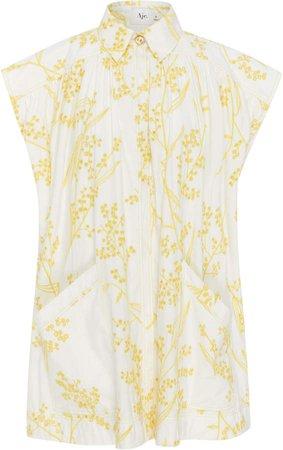 Aje Mimosa Printed Cotton Mini Dress
