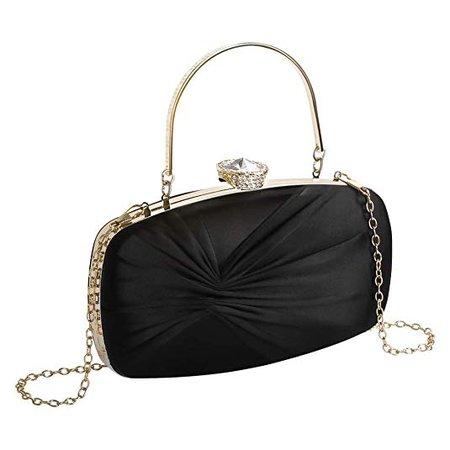 Evening Clutch Bags For Women Wedding Purse With Shiny Rhinestones 4 In 1 Style Tarpul: Handbags: Amazon.com