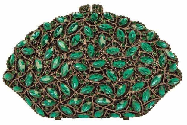 Marquise emerald clutch