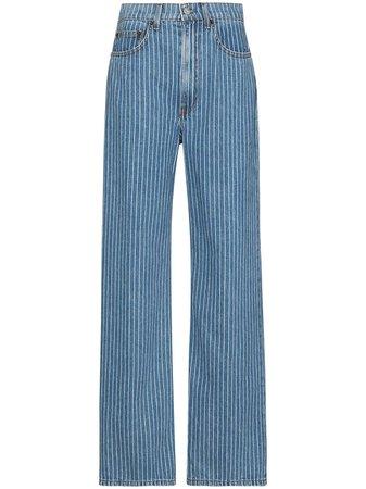 Reformation Hailey Pinstripe wide-leg Jeans - Farfetch
