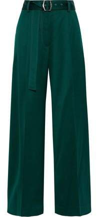 Blanche Belted Wool-twill Wide-leg Pants