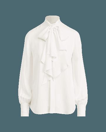 Necktie Silk Button-Down Shirt