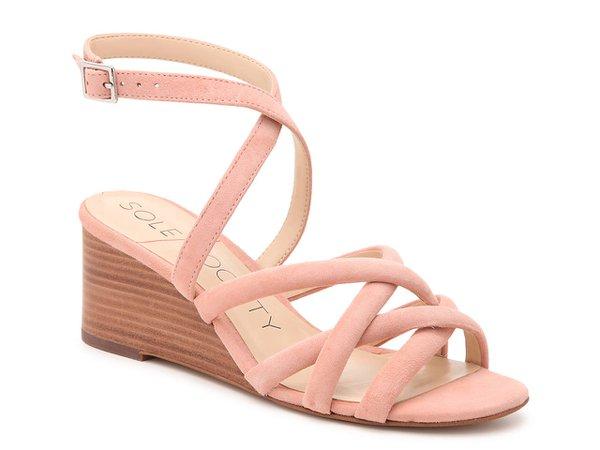 Sole Society Khalessia Wedge Sandal Women's Shoes | DSW