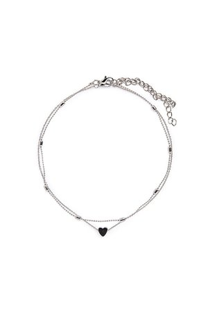 Silver Tone Double Necklace – Adika