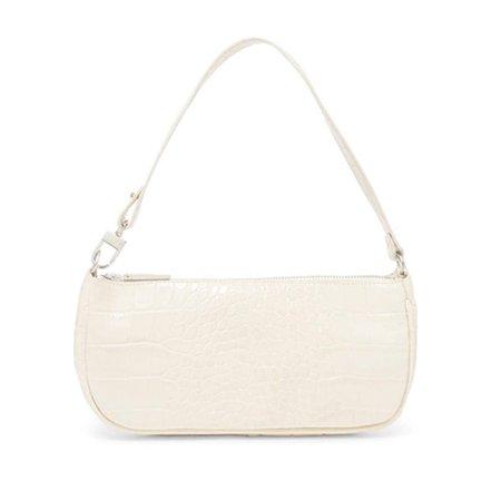 Barabum Crocodile Pattern Shoulder Baguette Bag in White   Trending Baguette Bag on Amazon Fashion 2020   POPSUGAR Fashion Photo 12