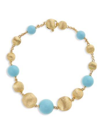Marco Bicego 18k Africa Turquoise Bracelet