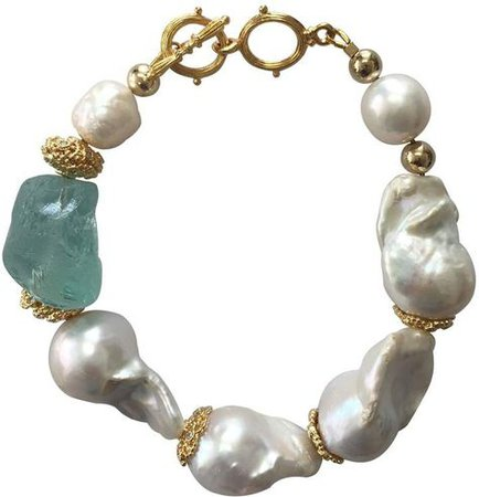 natural baroque pearl bracelet