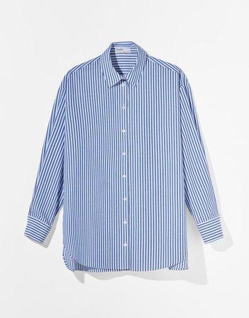Рубашка объемного кроя из поплина - Рубашки и блузы - Женщина | Bershka