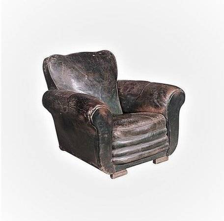 old leather armchair png filler brown