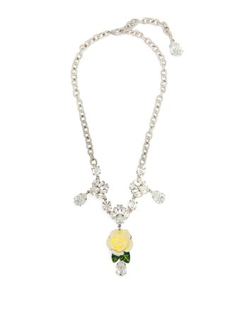 White rose crystal necklace   Dolce & Gabbana   MATCHESFASHION.COM