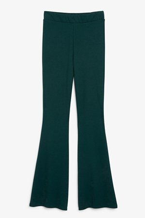 Flared trousers - Green - Trousers - Monki WW