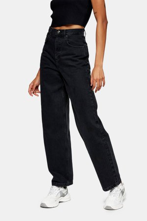 Washed Black Baggy Jeans
