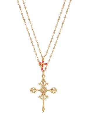 Roman Cross Set Necklace