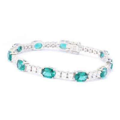 teal diamond bracelet from royal vault