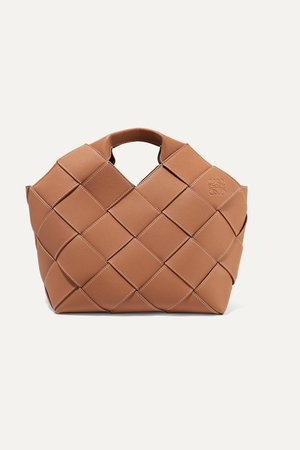 Brown Woven textured-leather tote | Loewe | NET-A-PORTER
