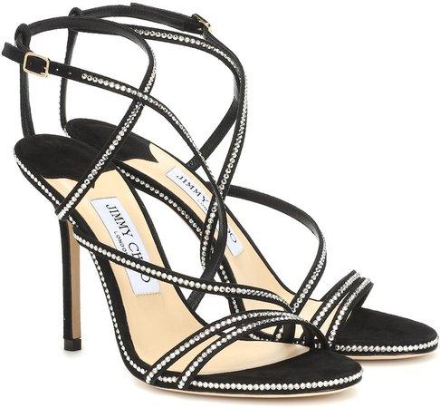 Dudette 100 embellished suede sandals