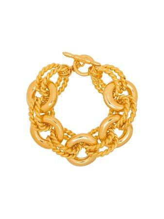 Kenneth Jay Lane Twist Link Gold-Tone Bracelet Ss20 | Farfetch.com