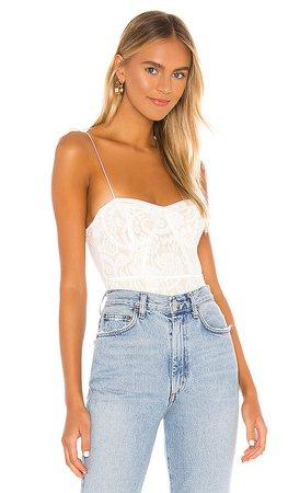 REVOLVE white lace bodysuit