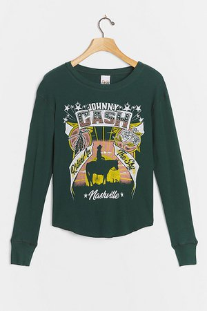 Johnny Cash Thermal Graphic Top | Anthropologie