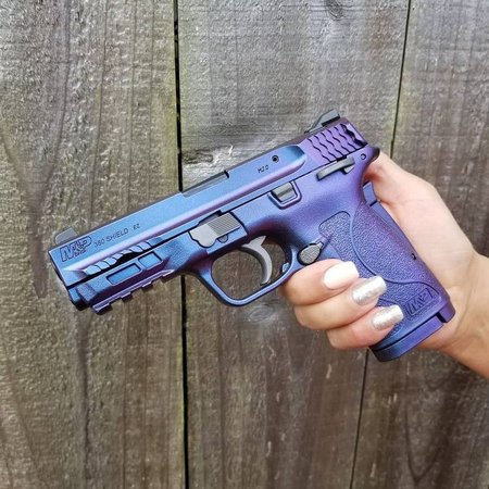 blue purple gun