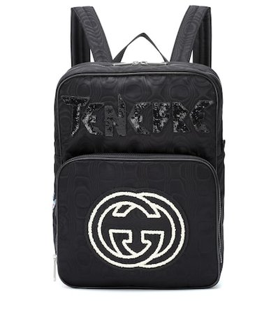 Embroidered medium backpack