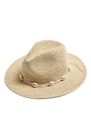 Topshop Shell Straw Hat   Nordstrom