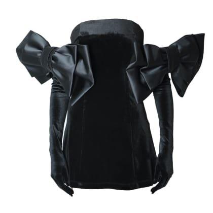 Cupid Dress & Gloves - Black Velvet | Miscreants | Wolf & Badger