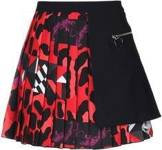 black red skirt