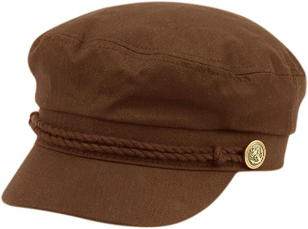EPOCH Men's Summer Cotton Greek Fisherman Sailor Fiddler Driver Hat Flat Cap Denim at Amazon Men's Clothing store