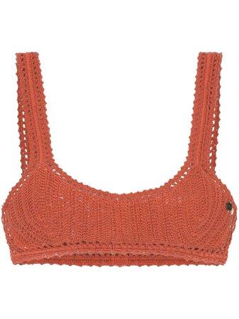 She Made Me Classic Crochet Bikini Top   Farfetch.com
