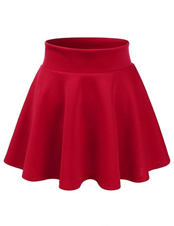 Crimson Red Skater-Skirt
