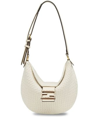 Shop white Fendi Croissant small shoulder bag with Express Delivery - Farfetch