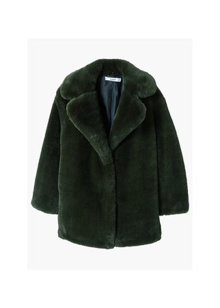 MANGO Faux fur coat
