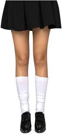 Kaariss Women Cotton Knit Over the Knee Socks Crochet Thigh High Stockings Dresses Cosplay Socks Leg Warmers Leggings (3 Pairs Black White Gray) at Amazon Women's Clothing store