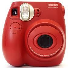 red polaroid camera