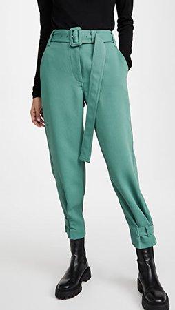 Proenza Schouler White Label Belted Rumple Pique Pants   SHOPBOP