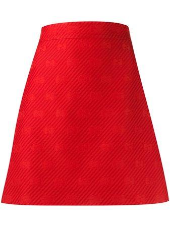 Gucci Diagonal GG A-line Short Skirt - Farfetch