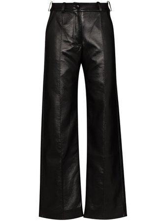 Materiel wide-leg faux-leather Trousers - Farfetch